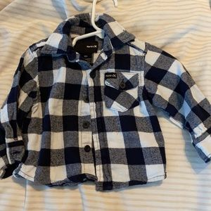 12m Hurley flannel